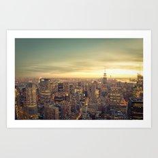 New York Skyline Cityscape Art Print