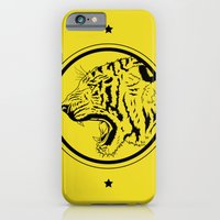 iPhone & iPod Case featuring Tiger in a circle by Joseph Rey Velasquez
