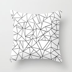 Abstract Outline Black O… Throw Pillow