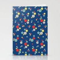 Blossom Ditsy In Monaco … Stationery Cards