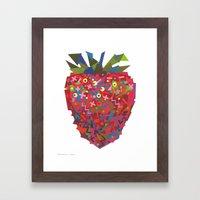 Strawberry (Fraise) Framed Art Print