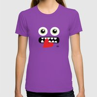 EYE EAT Womens Fitted Tee Ultraviolet SMALL