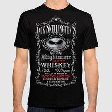 Halloween Parody Nightmare Blood jack skellington Whiskey Mens Fitted Tee Black SMALL