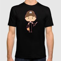 Audrey Hepburn Mens Fitted Tee Black SMALL