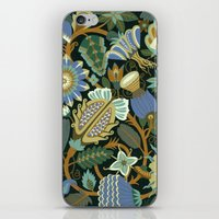 Flower Fantasy In Blue iPhone & iPod Skin