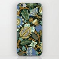Flower Fantasy in blue iPhone & iPod Skin