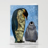 baby Stationery Cards featuring Emperor Penguins by Ben Geiger