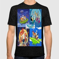 The Jetsons Mens Fitted Tee Tri-Black SMALL