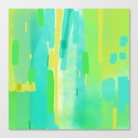 Water Color Green Canvas Print