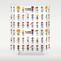 Super Street Fighter II Turbo Shower Curtain