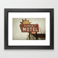 Sunset Motel Framed Art Print