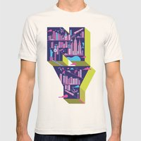 New York Mens Fitted Tee Natural SMALL