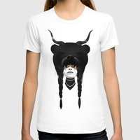 Bear Warrior Womens Fitted Tee White SMALL