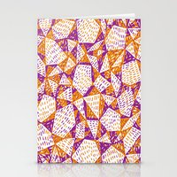 Triangle Pattern Print Stationery Cards