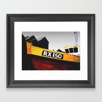 Hastings Fishing Boat Framed Art Print