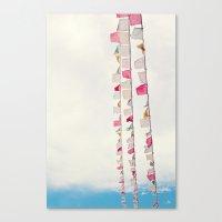 prayer flags no. 2 Canvas Print