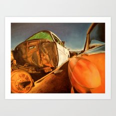 When you rust I will shine  Art Print
