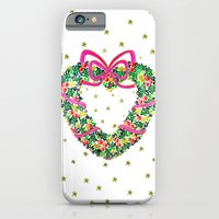 Xmas Heart Wreath iPhone 6 Slim Case