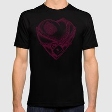 My Locked Heart SMALL Mens Fitted Tee Black