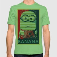 Minion banana Mens Fitted Tee Grass SMALL