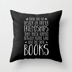 Bookish Friendship (inve… Throw Pillow
