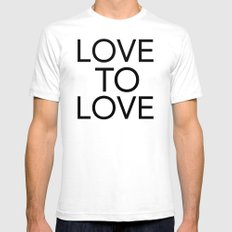 LOVE TO LOVE Mens Fitted Tee SMALL White