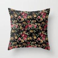 Vintage Flowers Throw Pillow