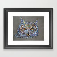 Owl Awakening Framed Art Print