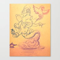Everyone Has A Genie Somewhere  Canvas Print