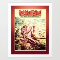 Rock Island Railroad Pos… Art Print