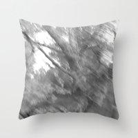 Treeage I - BW Throw Pillow