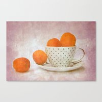 A Cup Full Of Apricots Canvas Print