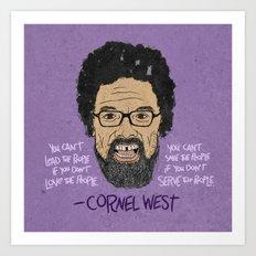 CORNEL WEST Art Print