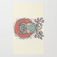 Owl On Branch Rug