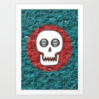 Skull Poppy Art Print