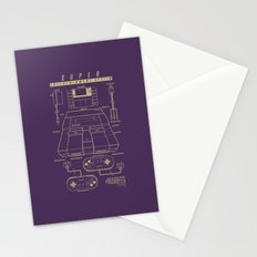 Super Entertainment System (dark) Stationery Cards