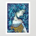Calypso Sleeps Art Print