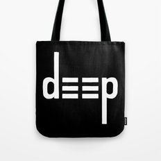 DEEP - Ambigram series (Black) Tote Bag