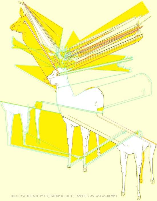 How High Can Deer Jump Art Print