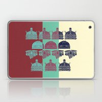 Robots don't like stairs (R2D2, Johnny 5 & The Dalek) Laptop & iPad Skin