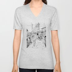 Kyoto - the old city Unisex V-Neck