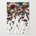 falling flowers Canvas Print