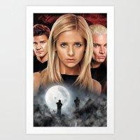 Buffy The Vampire Slayer… Art Print