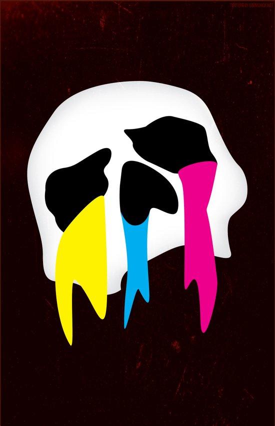 CMYK Death Art Print