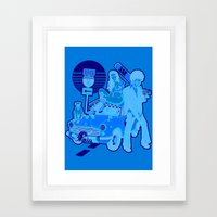 The Run Framed Art Print