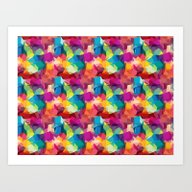 Abstract Colorful Patte… Art Print