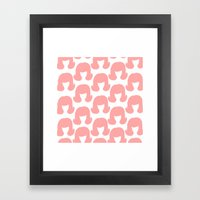Pink Bouffants Framed Art Print