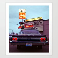 Classic Cafe Art Print