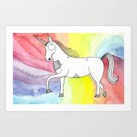 Unicorn of love Art Print