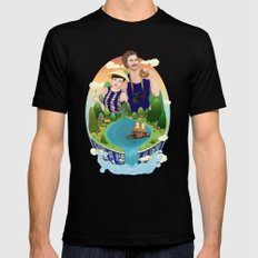Couple custom illustration for I&S Mens Fitted Tee Black SMALL